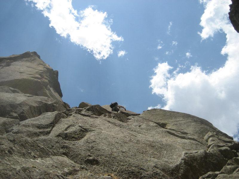 Rock Climbing Photo: Marta Reece on the 1st pitch traverse