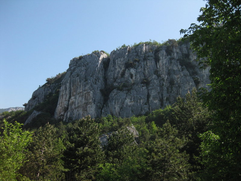 Rock Climbing Photo: The route takes a line on the tallest wall on the ...