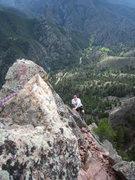 Rock Climbing Photo: Mark Spieker follows the last few meters of Tiger ...