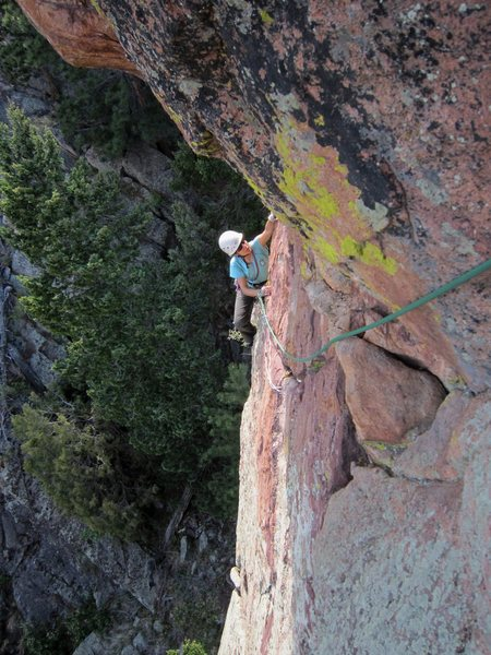 Rock Climbing Photo: Joseffa about to finish up on the Roof Variation o...