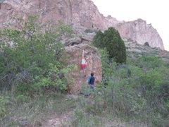 Rock Climbing Photo: Nice boulder problem.