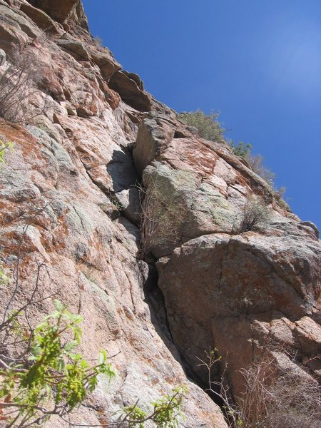 Start of the 5.7 cave route climb.