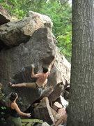 Rock Climbing Photo: Ian on a repeat send.