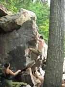 Rock Climbing Photo: Holding the swing.