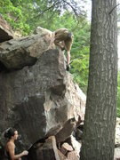 Rock Climbing Photo: and top-out.