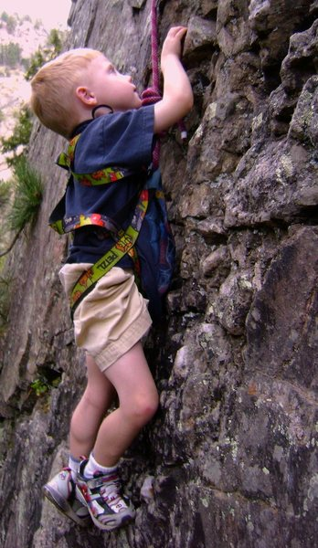 Rock Climbing Photo: Ripping it up with Spiderman shoes.