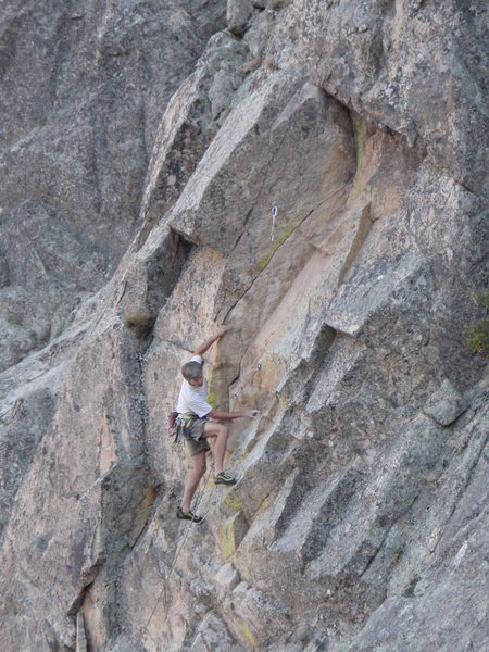 Rock Climbing Photo: Steve in the lower corner on the FA