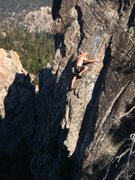 Rock Climbing Photo: EFR on the final steep slabby bit.