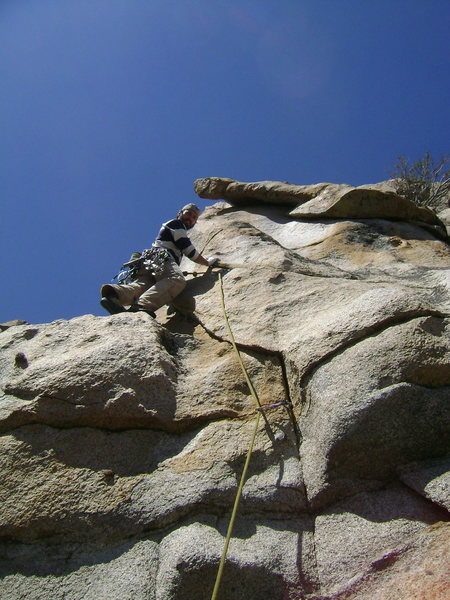 Rock Climbing Photo: Moving past the second small cam placement on the ...