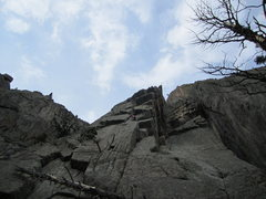 Rock Climbing Photo: I was trying to avoid rope drag by starting high a...