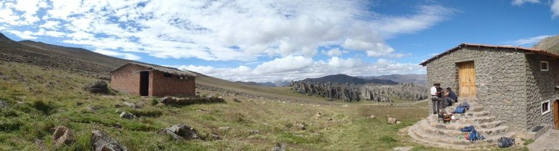 Rock Climbing Photo: Hatun Machay and the refuge run by Andean Kingdom