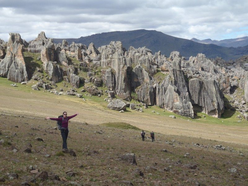Walk out to crags from refuge