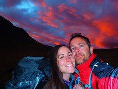 Rock Climbing Photo: Ahhhhfter a nice day o craggin at 14000ft!