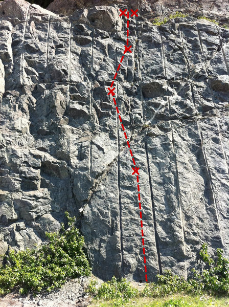 Rock Climbing Photo: K-Y Commando Topo Photo