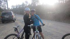 Rock Climbing Photo: Mtn biking with BFF