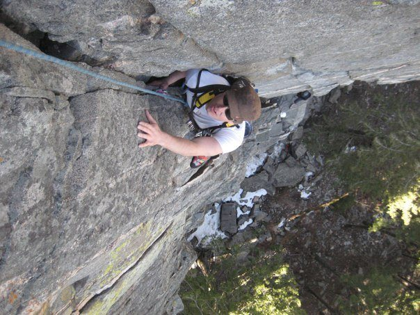 Cliff on the Second pitch of the Tower
