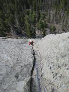 Rock Climbing Photo: Alex climbing the wedge's southwest route if I rem...