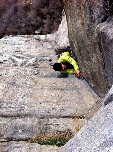 1st pitch of the Standard Route.