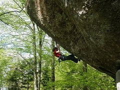 Rock Climbing Photo: Adam Ondra making the 10th ascent of this insanely...