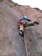 Rock Climbing Photo: Shirley cruising the nice Last Days route on the S...