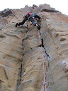 Rock Climbing Photo: Past the opening crux on Handjob...the fun stemmin...