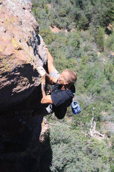 Rock Climbing Photo: Sinking the the 8 ball