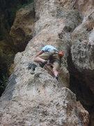 Rock Climbing Photo: Ken on Flower Tower Trebenna Geyikbayiri Turkey