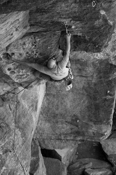 Rock Climbing Photo: MR B&W