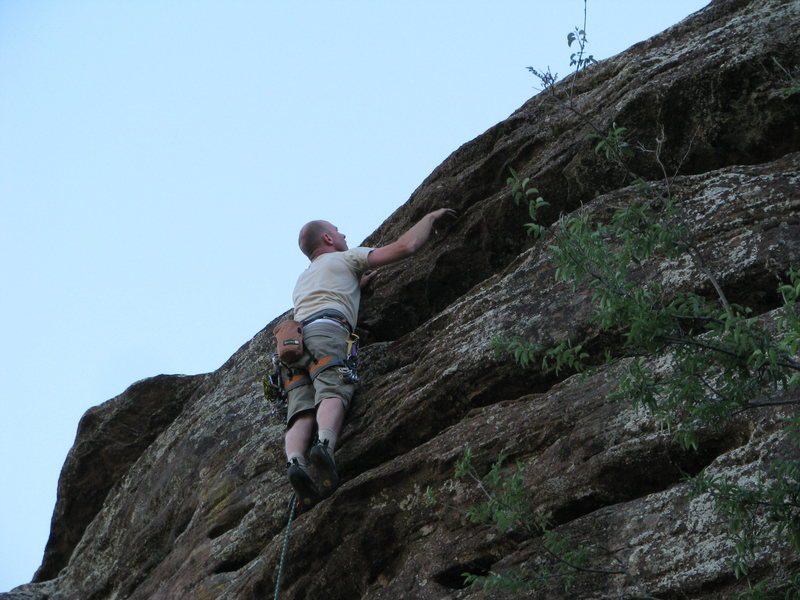 Aaron topping out on Transverse to Heaven.