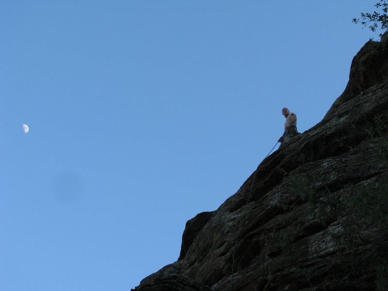 Aaron on top of Transverse to Heaven.
