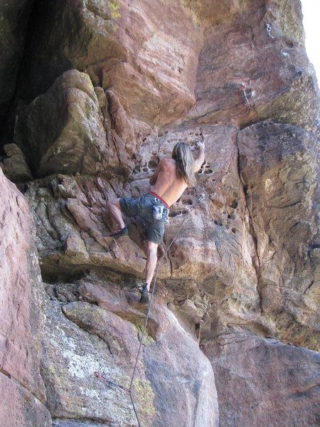 Rock Climbing Photo: Mike K. on Corner Pocket.