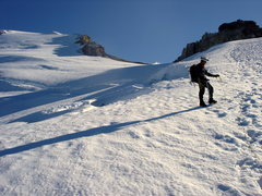 Rock Climbing Photo: Easton Glacier to summit