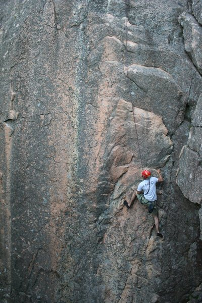 Rock Climbing Photo: Chicken of the Sea: from the right leaning cracks ...