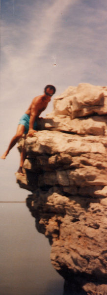 Rock Climbing Photo: Olaf Mitchell bouldering at John Martin Res. SE CO...