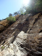 Rock Climbing Photo: easy slabs on the final section of the approach
