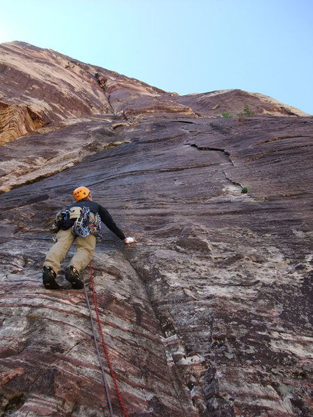 Rock Climbing Photo: P1, the 10a R way