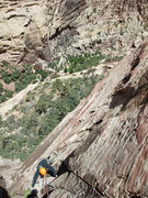 Rock Climbing Photo: just below the P2 crux