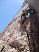 Rock Climbing Photo: starting up P3