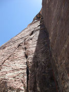 Rock Climbing Photo: Dow further up P3