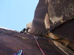 Rock Climbing Photo: Dow starting up P5