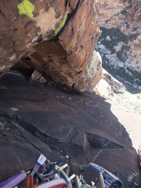 Rock Climbing Photo: looking down P5
