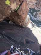 Rock Climbing Photo: looking down P5