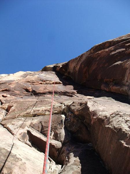 Rock Climbing Photo: P4 on rap