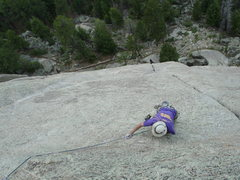 Rock Climbing Photo: High traverse.