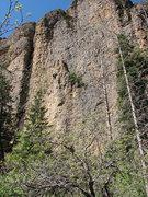Rock Climbing Photo: John Ross near the top of Cracker Boy.