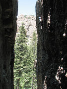 Rock Climbing Photo: John Ross nearing the top of Ted.