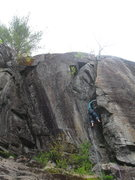 Rock Climbing Photo: Whats with the first two very pointless bolts?!?  ...