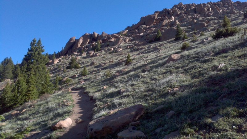 on the way up Pikes