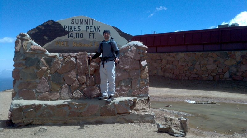 At the top of Pikes. 1 down 53 to go.