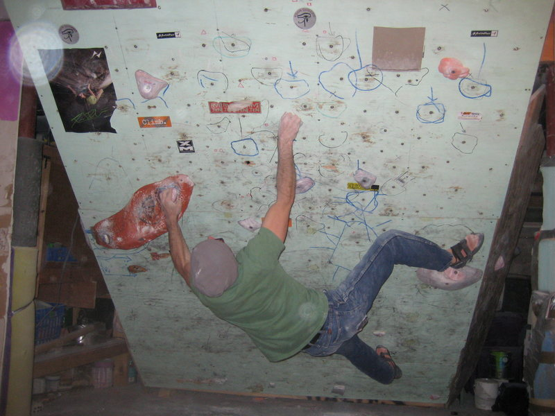 Rock Climbing Photo: Pete crankin